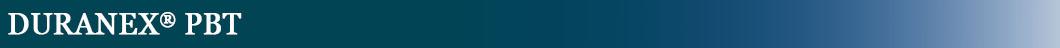 DURANEX PBT物性表